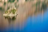 Phantom island in Crater lake national park poster