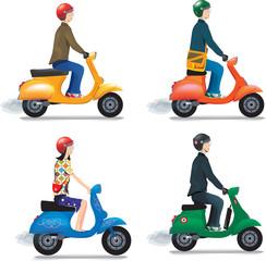 bobos à scooter