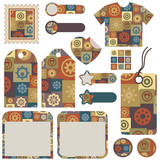 collection of patchwork designs poster