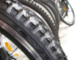 Bicycle wheels with new tires  poster