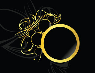 Gold black circular element