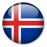 Iceland flag button poster