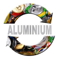 Aluminum recycling symbol