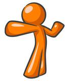Orange Man Dynamic Punch Pose poster