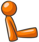 Orange Man Sitting Good Posture poster