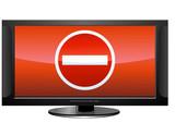 Ecran avec un contenu non autorisé (détouré) poster