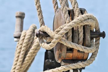 Old sailing equipment