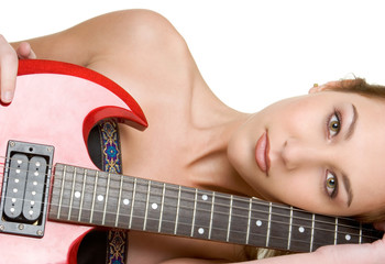 Girl With Electric Guitar