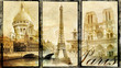 Quadro old Paris - vintage collage