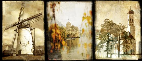 old Europe - vintage photoalbum