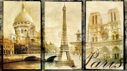 old Paris - vintage collage