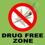 Drug Free Zone poster