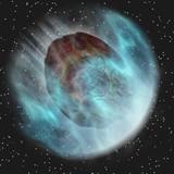 Meteor Entering Earth Atmosphere poster