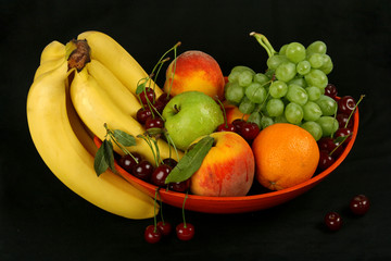 fruits in dark