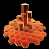 hexagon building poster