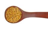 Pollen grains in wooden spoon poster