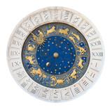 Venice clock tower dial cutout poster