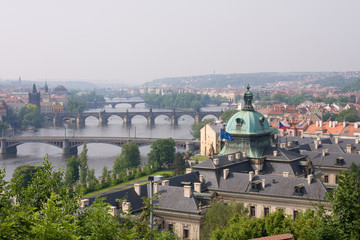 bridge over vltava in prag