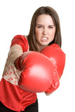Punching Businesswoman poster