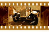 old 35mm frame photo with vintage car