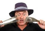 Shocked Man In Hat poster