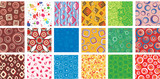 Harmonious collection of backgrounds.Vector. poster
