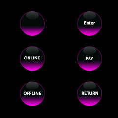 pink neon buttons