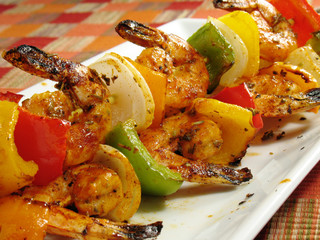 Spicy Shrimp Kebabs