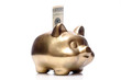 Golden piggybank