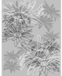 Blumendekor Vektor in neutral grauem Design