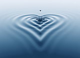 Heart shaped splash