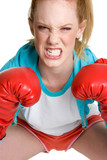 Aggressive Boxing Woman poster