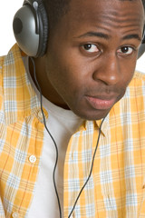 Man Wearing Headphones