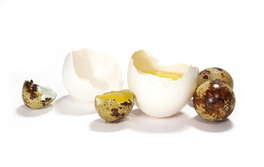 Eggs isolated on a white