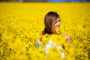 In rape field