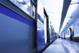 Fototapeta Pobyt - Drzwi - Stacja Kolejowa