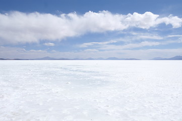 Overview over the saltplanes of Uyuni