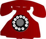 Teléfono antiguo poster