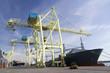 Port Cranes unloading a Ship