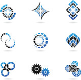 Fototapety Blue Logos to go with your company name (set of 9)