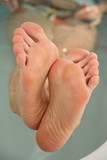 Feet in Bathtube poster