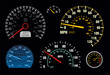 Set of Vector Speedometer and Counter EPS.