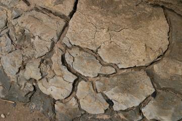 Cracks, the dry ground