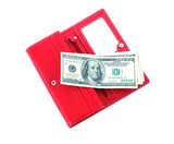 open purse feminine red with money 4 poster
