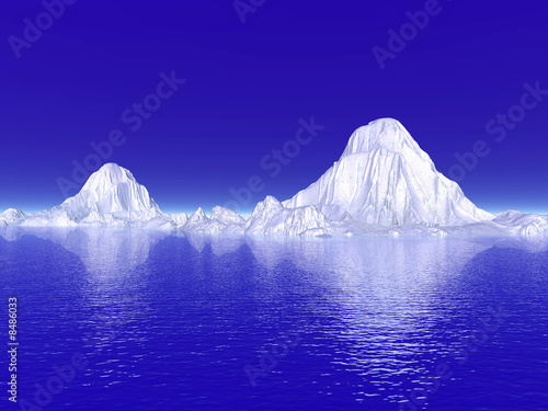 Foto op Canvas Violet Icebergs