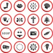 round road signs