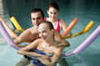 People exercising in a spa pool