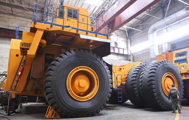 Huge industrial truck