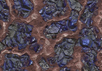 Sapphire Stones Buried Inside the Earth