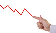 Business chart showing negative growth trend